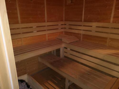 sauna interiér